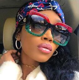 Large Oversized Square Luxury Sunglasses Gradient Lens Vinta