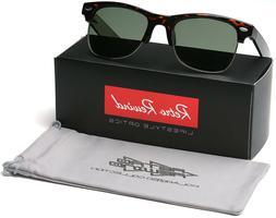 Large Polarized Half Frame Retro Vintage Glasses Men's Sungl