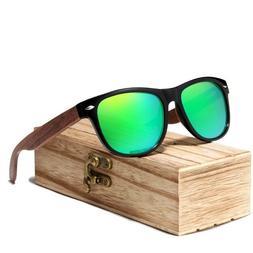 Men Black Walnut Sunglasses Wood Polarized Uv Protection Eye