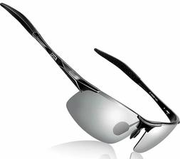 Men Hot Fashion Driving Polarized Sunglasses Al-Mg Metal Fra