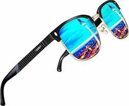 ATTCL Men's Driving Polarized Rimless Sunglasses Al-Mg Metal