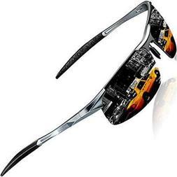 SIPLION Men's Driving Polarized Sport Sunglasses Al-Mg Metal