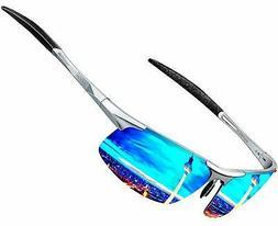 ATTCL Men's Mirrored Driving Polarized Sunglasses for Men Al