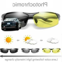 Men's Photochromic Polarized Sunglasses Day and Night Drivin
