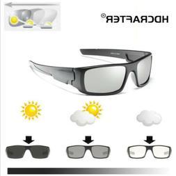 Men's Photochromic Polarized Sunglasses UV400 Transition Len