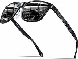 ATTCL Men's Retro Metal Frame Driving Polarized Sunglasses A