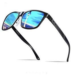 ATTCL Men's Retro Metal Frame Driving Polarized Sunglasses F