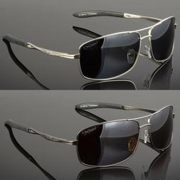Men's Rimless Polarized Sunglasses UV400 Outdoor Sports Driv