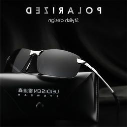 HD Polarized Sunglasses Mens Driving Aviator Glasses UV400 O