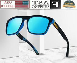 Men Sunglasses Blue Mirror Reflective Lens Polarized Sport F