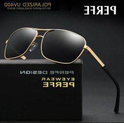Men Women Polarized Sunglasses TR90 Metal Classic Square Out