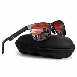Mens HD Polarized Sunglasses Al-Mg Metal Frame Aviator Drivi