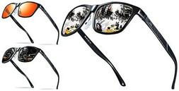 ATTCL Mens Hot Retro Metal Frame Driving Polarized Sunglasse