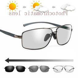 Mens Polarized Photochromic Sunglasses Outdoor Driving Trans