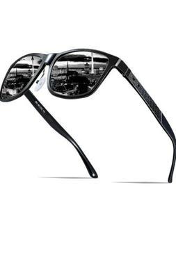 ATTCL Mens Retro Driving Polarized Mirror Sunglasses AL-MG M