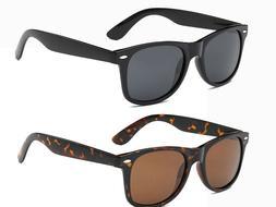 UNISEX 80's Style CLASSIC Black Frame 100% UV NEW MEN WOMEN