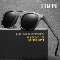 Men's TR90 Polarized Sunglasses Classic Round Outdoor Driv