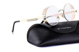 MERRY'S Gothic Steampunk Sunglasses for Women Men Round Lens