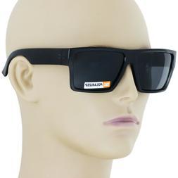 New Black Square Frame Polarized Sunglasses Driving Mens Des