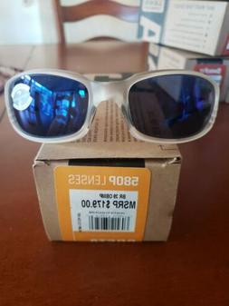 New Costa Del Mar Brine Polarized Sunglasses 580p Matte Crys