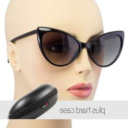 New Hot Women's Classic Cat Eye Designer Fashion Shades Blac