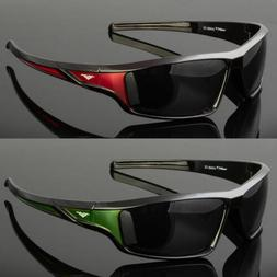 New Men Polarized Sunglasses Sport Wrap Around Black Driving