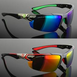 New Men Polarized Sunglasses Sport Wrap Around Mirror Drivin