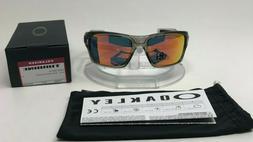 New Oakley Turbine Sunglasses Grey Ink Ruby Iridium Polarize