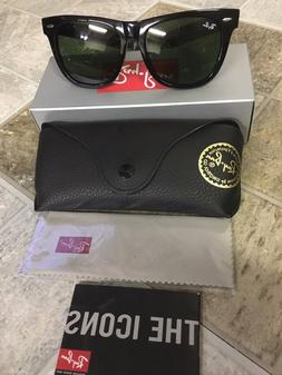 37aa37310d NEW Original Black Wayfarer Ray Ban Sunglasses RB2140 901 50