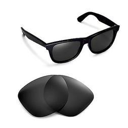 New Walleva Polarized Black Lenses For Ray-Ban Wayfarer RB21