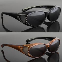 New Polarized Solar Shield Fit Over Sunglasses Cover All Gla