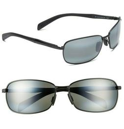 6a456bb705 NEW Maui Jim POLARIZED Sunglasses LONG BEACH Matte Black w N