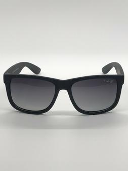 NEW Ray-Ban Black Justin Sunglasses with Grey Gradient POLAR