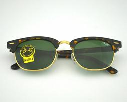 NEW RAY-BAN CLUBMASTER SUNGLASSES Tortoise Frame / Classic G