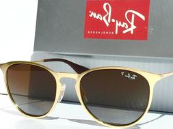 NEW* Ray Ban ERIKA Matte Gold w POLARIZED Brown Lens Women's