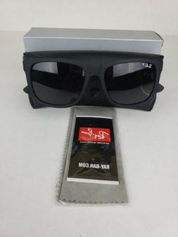 New Ray-Ban Justin Wayfarer POLARIZED RB4165 622/T3 Black/Gr