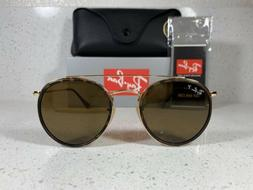 New Ray-Ban RB 3647N 001/57 51mm Gold Frame / Brown Polarize