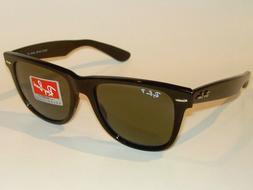 New RAY BAN Sunglasses Black WAYFARER Glass Polarized RB 214