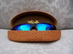 *New* MAUI JIM RED SANDS Matte Black/Blue Hawaii Polarized S