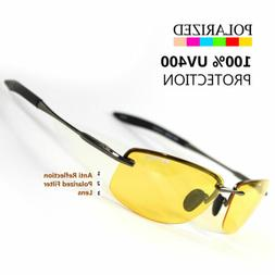 NEW SPORT WRAP HD NIGHT DRIVING YELLOW VISION SUNGLASSES HIG
