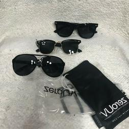New w Tags! ZeroUV sunglasses 3 pk Polarized UV free Aviator