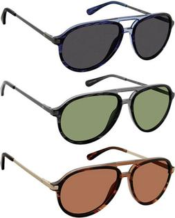 Sperry Oak Island Polarized Men's Browline Aviator Sunglasse