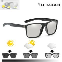 Photochromic Polarized Sunglasses Men's UV400 Driving Transi