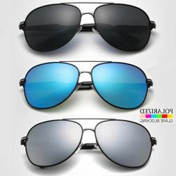 Polarized Aviator Mirrored Sunglasses For Women Men Case Vin