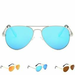 Polarized Aviator Sunglasses Anti-UV Flash Mirror Lens with