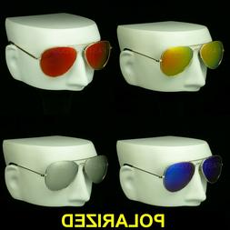 Polarized aviator sunglasses mirror lens drive fish new men