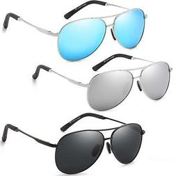 Polarized Classic Aviator Sunglasses for Men and Women 100%