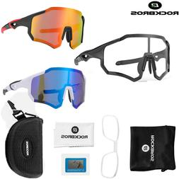 ROCKBROS Polarized Cycling Sunglasses Bike Glasses Full Fram