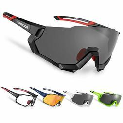 RockBros Polarized Cycling Sunglasses Goggles Sports Photoch