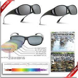 POLARIZED FIT OVER Sunglasses - 2 PAIR Wraparound Sunglasses